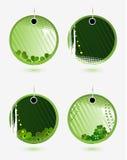 Reeks vector groene etiketten Royalty-vrije Stock Foto