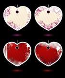 Reeks vector hart-vormige etiketten Royalty-vrije Stock Afbeeldingen