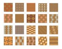 Reeks vector het bedekken tegels en bakstenenpatronen vector illustratie