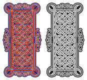 Reeks vector Keltische ontwerpelementen Stock Afbeelding
