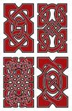 Reeks vector Keltische ontwerpelementen Stock Foto's