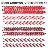 Reeks vector lange geweven pijlen Stock Afbeeldingen