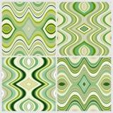 Reeks Vector Naadloze Abstracte Golvende Achtergronden Royalty-vrije Stock Afbeeldingen