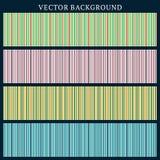 Reeks Vector Naadloze Achtergronden Gestripte achtergrond Stock Afbeelding