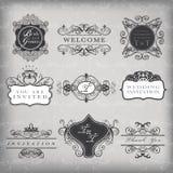 Reeks vector uitstekende frames royalty-vrije illustratie