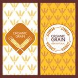 Reeks vectorachtergronden voor banner, etiket, pakketmalplaatje Royalty-vrije Stock Afbeelding