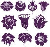 Reeks Vectorbloemen royalty-vrije illustratie