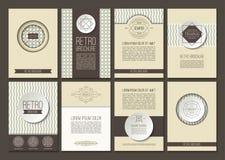 Reeks vectorbrochures in uitstekende stijl Stock Fotografie