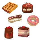 Reeks vectorcakes stock illustratie