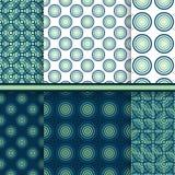 Reeks vectorcirkel naadloze patronen royalty-vrije illustratie