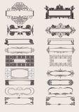Reeks VectorElementen van het Ornament van Frames Royalty-vrije Stock Afbeelding