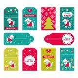 Reeks vectorelementen voor Kerstmis en Nieuwjaarontwerp Royalty-vrije Stock Afbeelding