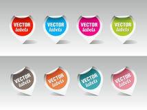 Reeks vectoretiketten Stock Afbeeldingen