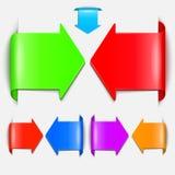 Reeks vectoretiketten. stock illustratie