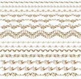 Reeks vectorgrenzen, decoratieve elementen Royalty-vrije Stock Foto's