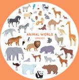 Reeks Vectorillustraties van de Werelddiersoort vector illustratie