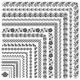 Reeks vectorkaders en grenzen Stock Foto's