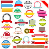 Reeks vectorlinten, etiketten, banners en emblemen Royalty-vrije Stock Afbeeldingen