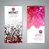 Reeks Vectormalplaatjes van Affichebanners met Punten Royalty-vrije Stock Foto
