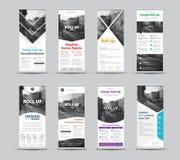 Reeks vectormalplaatjes van witte broodje-omhooggaande banners met plaats voor vector illustratie