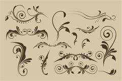 Reeks vectorpatronen voor ontwerp Stock Fotografie