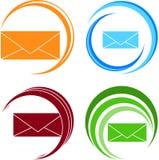 Reeks vectorpictogrammen van brief stock illustratie