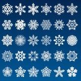 Reeks VectorSneeuwvlokken vector illustratie