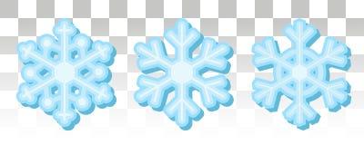 Reeks vectorsneeuwvlokken voor feestelijk decor Blauwe sneeuwvlokken op a vector illustratie