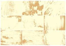 Reeks vectortexturen Stock Afbeelding