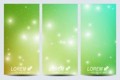 Reeks vectorvliegers Achtergrondwetenschap, verbinding, chemie, biologie, geneeskunde, technologie Modern ontwerp Royalty-vrije Stock Afbeelding