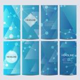 Reeks vectorvliegers Vlieger, Web, banner, kaart, vip, certificaat, gift, bon Moderne bedrijfs modieuze designv Royalty-vrije Illustratie