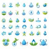 Reeks vectorwaterpictogrammen. Royalty-vrije Stock Foto's