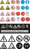 Reeks veiligheidssymbolen royalty-vrije illustratie