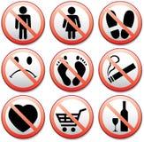 Reeks verbodstekens Royalty-vrije Stock Afbeeldingen