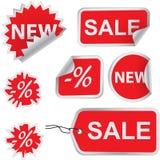 Reeks verkoopetiketten Royalty-vrije Stock Foto's