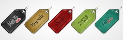 Reeks verkoopprijskaartjes of etiketten royalty-vrije illustratie