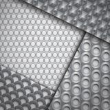 Reeks verscheidene naadloze patronen van de koolstofvezel Stock Foto's