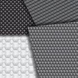 Reeks verscheidene naadloze patronen van de koolstofvezel Stock Fotografie