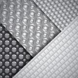 Reeks verscheidene naadloze patronen van de koolstofvezel Royalty-vrije Stock Foto's