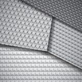 Reeks verscheidene naadloze patronen van de koolstofvezel Royalty-vrije Stock Afbeeldingen