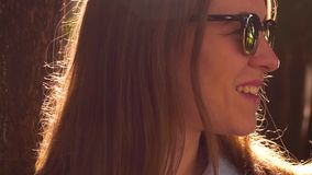 Reeks Verschillende Acties en Emoties van Vrouw stock video
