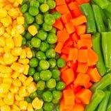 Reeks verschillende bevroren groenten Stock Afbeeldingen