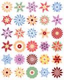 Reeks verschillende bloemen Stock Afbeelding