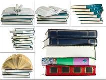 Reeks verschillende boekenbeelden op witte achtergrond Royalty-vrije Stock Foto