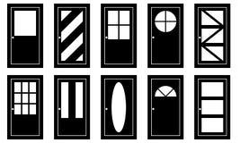 Reeks verschillende deuren stock illustratie