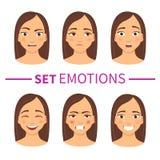 Reeks verschillende emoties royalty-vrije illustratie