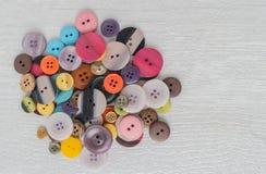 Reeks verschillende gekleurde knopen Stock Afbeeldingen