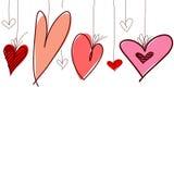 Reeks verschillende grafische harten Royalty-vrije Stock Afbeeldingen