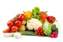 Reeks verschillende groenten Royalty-vrije Stock Foto's