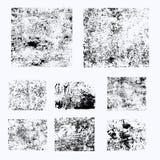 Reeks verschillende grunge vectorelementen Royalty-vrije Stock Foto's